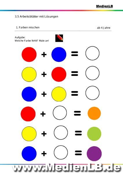 Beste Farbarbeitsblätter Kindergarten Ideen - Ideen färben ...
